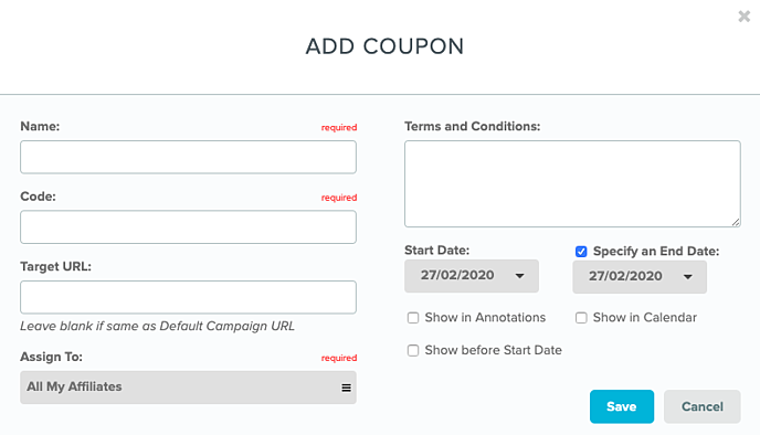 Add Coupon